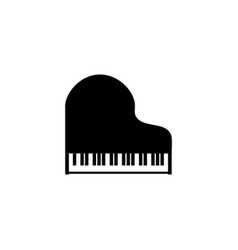 grand piano instrument silhouette background vector image