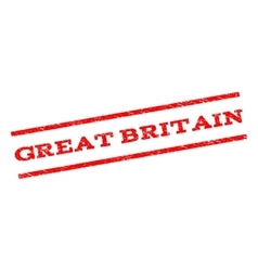 Great britain watermark stamp vector
