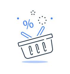 grocery basket best deal special offer vector image