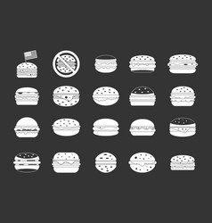 hamburger icon set grey vector image