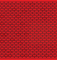 hand drawn brick wall seamless vector image