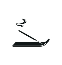 incense sticks simple black icon on white vector image