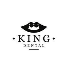 king dental logo dentist logo vector image