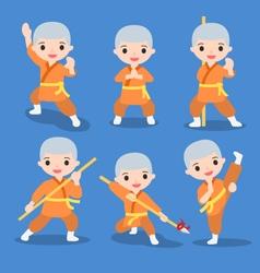 Kung fu characters set vector