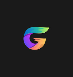 Letter g colorful design template vector