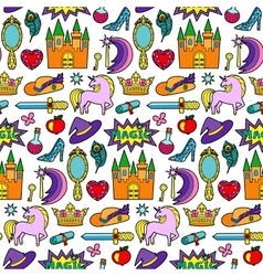 Magic Patch Seamless Pattern vector image