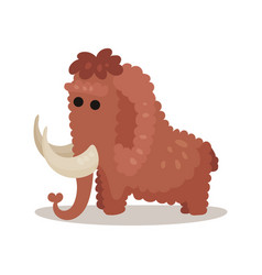 Mammoth prehistoric extinct animal colorful vector