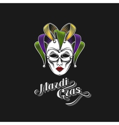 Mardi Gras or Shrove Tuesday carnival mask vector image