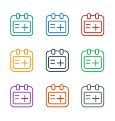 Medical appointment icon white background vector