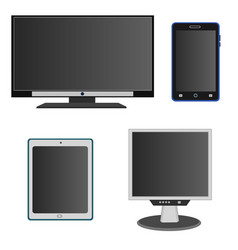 modern technology device display icon set vector image