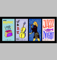 Music festival design for jazz rock metal blues vector