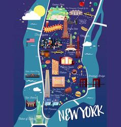 New york manhattan map vector