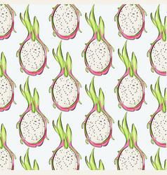 pitaya repetiotion pattern tropical dragon fruit vector image