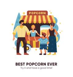 popcorn van vector image