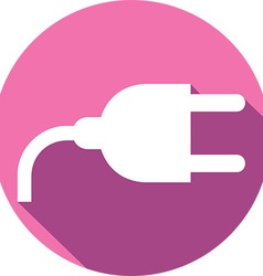 Power plug icon vector