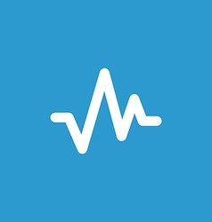 pulse icon white on blue background vector image