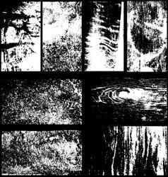 set 8 grunge overlays vector image