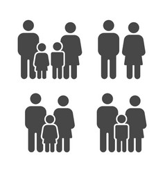 set family icons image vector image