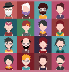 Set of avatars b vector