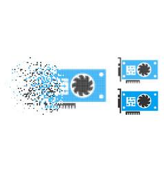Shredded pixelated halftone gpu accelerator card vector
