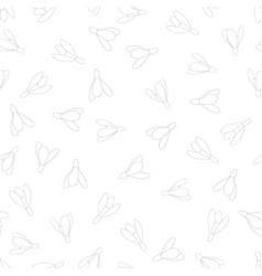 snowdrop flower outline seamless background vector image