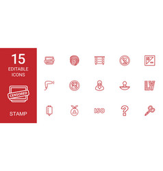 stamp icons vector image