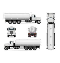 Tanker car template vector