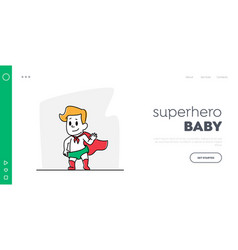 Toddler character rescue landing page template vector