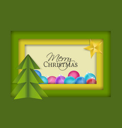 top view christmas decorations vector image