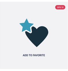 Two color add to favorite icon from user vector