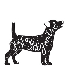 Typographic dog pet label vector