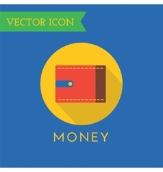 Wallet Icons Set Shop money or commerce vector image