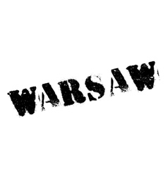 Warsaw stamp rubber grunge vector image