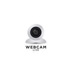webcam graphic design template vector image