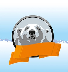 WHITE BEAR RIBBONS vector image
