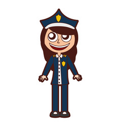 woman police officer avatar character vector image