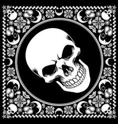 bandana pattern with skull vector image vector image