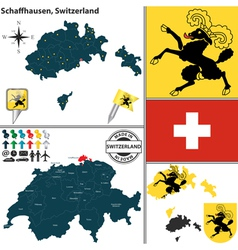 Map of Schaffhausen small vector image vector image