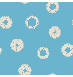 Seamless background with camera shutter symbols vector image