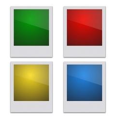 Set Retro Photo Frame Polaroid On White vector image
