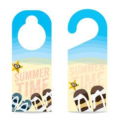 The beach summer vacation concept door hanger vector