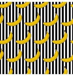 Colorful seamless pattern banana stripes vector image