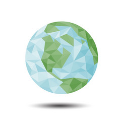 polygon earth icon on white background vector image