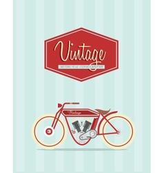 Vintage bike vector image