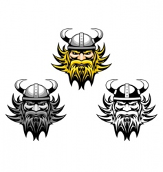 ancient viking vector image vector image