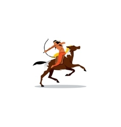 Indian archery riding a horse vector image vector image