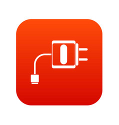 mini charger icon digital red vector image vector image
