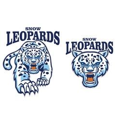 snow leopard mascot vector image vector image