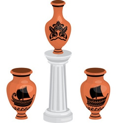 vases set vector image