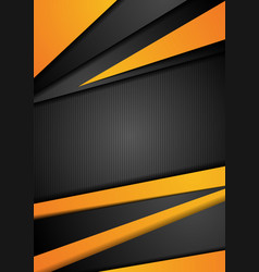 black and orange tech corporate background vector image vector image